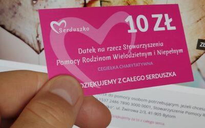 Cegiełki charytatywne narzecz Stowarzyszenia.